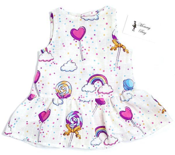 Муслиновое платье RoyalBaby Конфетки