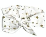 Повязка-афробант на голову RoyalBaby Золотые звездочки #7. Зображення 3