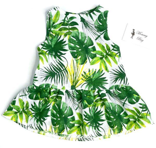 Муслиновое платье RoyalBaby Тропик р.62, 0-6 мес