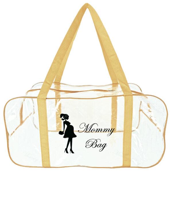 Набір з прозорих сумок в пологовий будинок Mommy Bag, колір сумки - Бежевий. Зображення 7