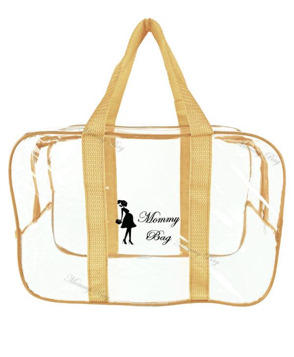 Набір з прозорих сумок в пологовий будинок Mommy Bag, колір сумки - Бежевий. Зображення 11