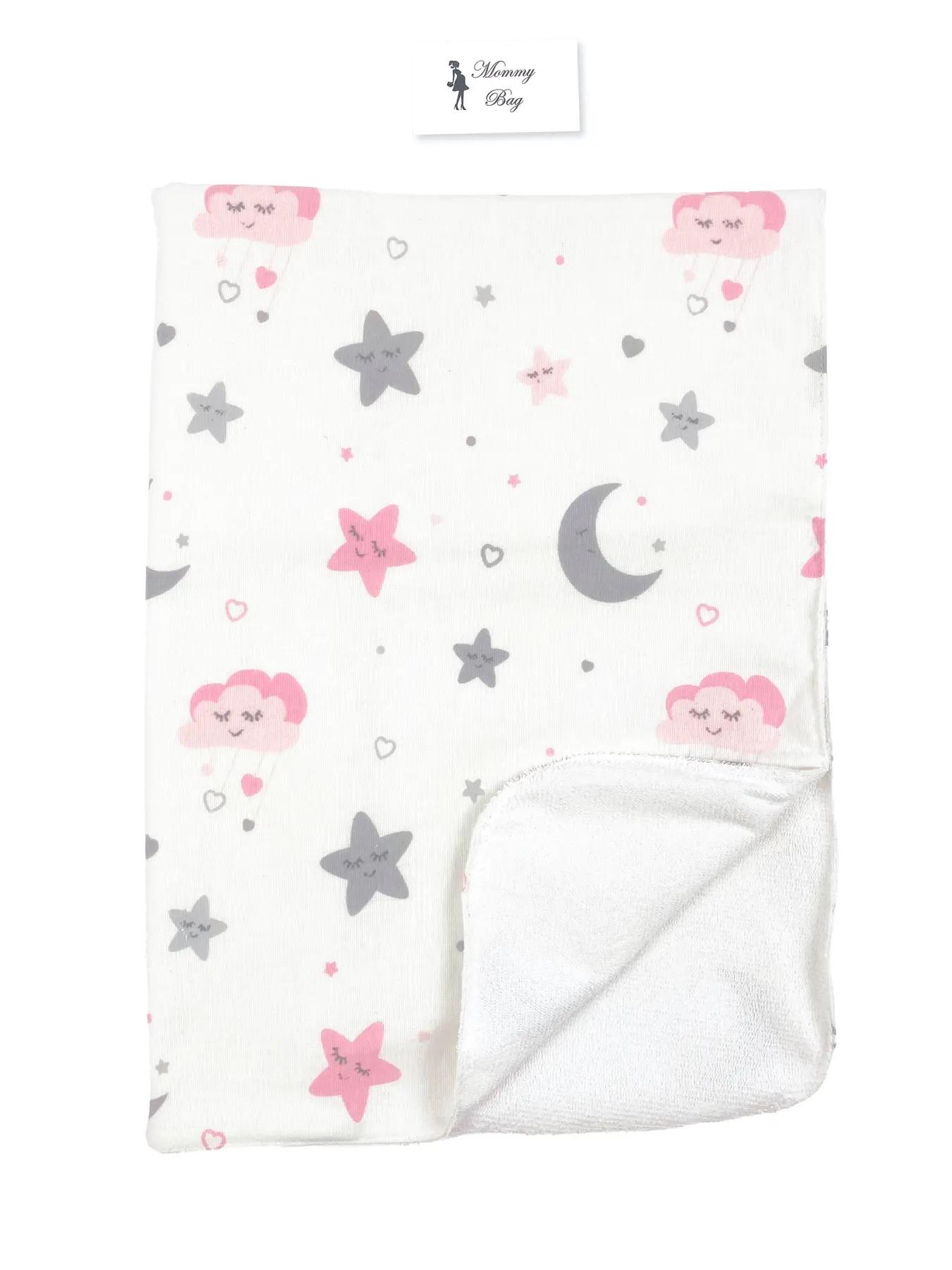 Непромокаемая пеленка многоразовая Луна и розовые звездочки - #18. Фото 2