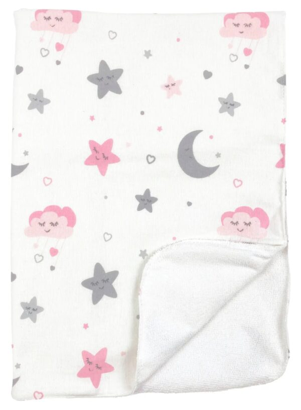 Непромокаемая пеленка многоразовая Луна и розовые звездочки - #18